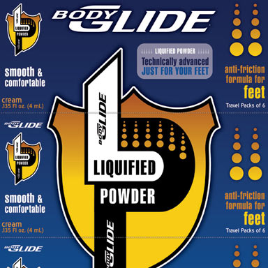 Body Glide USA: Package Label with Perforated Segments