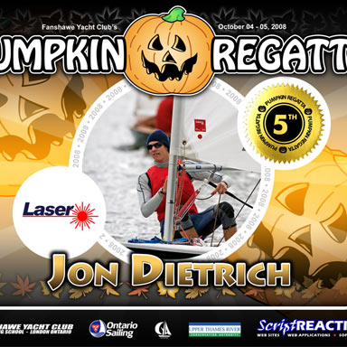 Fanshawe Yacht Club and Sailing School: Award Certificate: Pumpkin Regatta