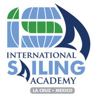 "Logo Exhibiting Sail with ""ISA"" Initials and Global Element"